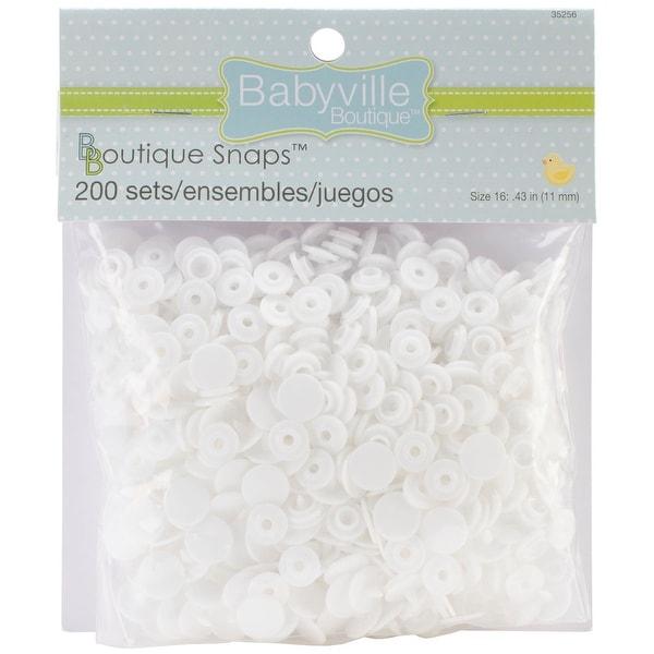 Babyville Boutique Snaps-White Size 16 200/Pkg