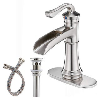 Vibrantbath Commercial Single Handle Waterfall Bathroom Sink Faucet