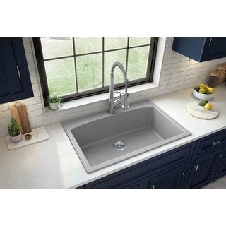 Link to Karran Drop-In Quartz Single Bowl Kitchen Sink Similar Items in Sinks