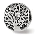 Italian Sterling Silver Reflections Polished Cut-out Tree Bead (4.5mm Diameter Hole) - Thumbnail 0