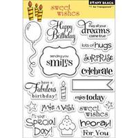 "Sweet Wishes - Penny Black Clear Stamps 5""X7.5"" Sheet"