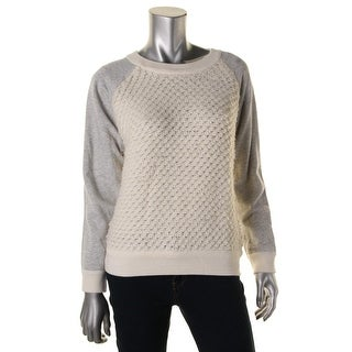 Townsen Womens Wool Blend Colorblock Pullover Sweater - L