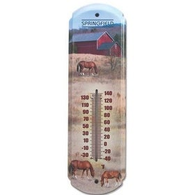 Taylor 98211 Metal Thermometer, Horse Artwork, 17""