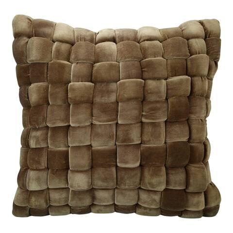 Aurelle Home Modern Cable-weave Pillow