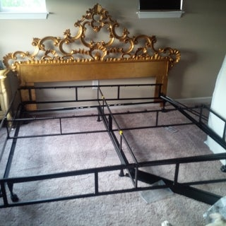 Fashion Bed Groups Insta-lock King OR Queen Size Solid Steel Headboard Bracketed Bedframe