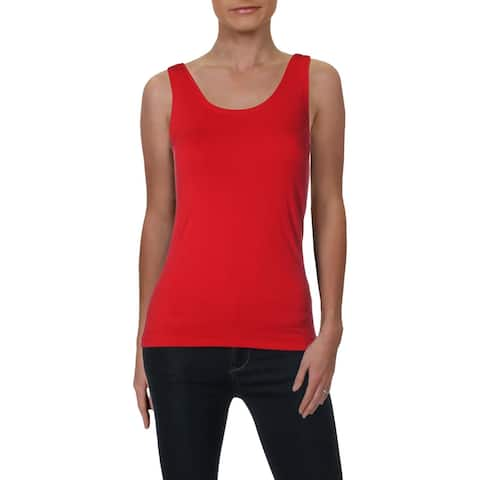 Nic + Zoe Womens Perfect Tank Top Scoop Neck Shell