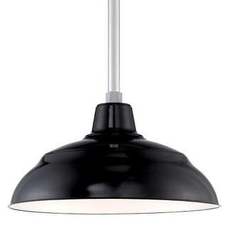 "Millennium Lighting RWHS17P R Series 17"" Wide Porcelain Outdoor Warehouse Shade"