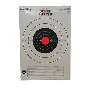 Champion traps and targets 45723 champion traps and targets 45723 orange bull  25yd pistol
