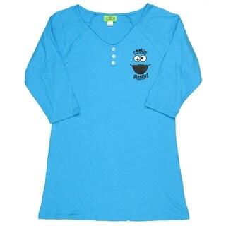 Sesame Street Cookie Monster Dorm Shirt Sleep Lounge