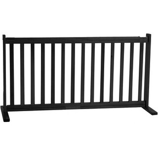 Dynamic Accents - 20 Inch All Wood Large Free Standing Gate - Black