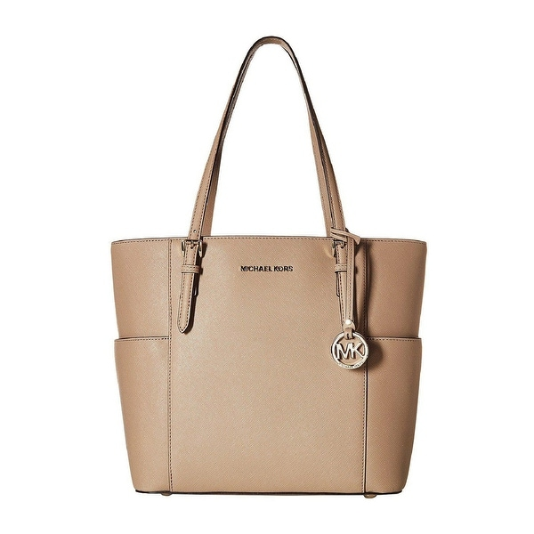 f2dcdfb571aa29 MICHAEL Michael Kors Jet Set Travel Large Leather Tote Truffle/Gold - One  Size