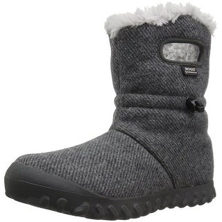 Bogs Womens Bmoc Wool Faux Fur Closed Toe Mid-Calf Cold Weather Boots