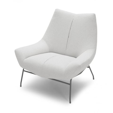 Divani Casa Colt Modern White Lounge Chair