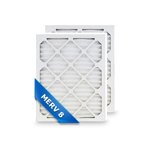 High Quality Pleated Furnace Air Filter 12x20x1 Merv 8 (2-Pack)