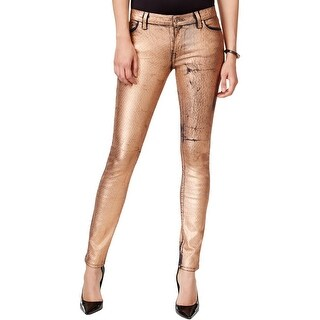 Guess Womens Skinny Jeans Metallic Coated - 24