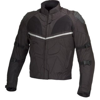 Men Motorcycle Cordura Polyester Waterproof Windproof Jacket Black MBJ014.1