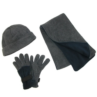 CTM® Men's Fleece Hat Gloves and Scarf Winter Set - One size