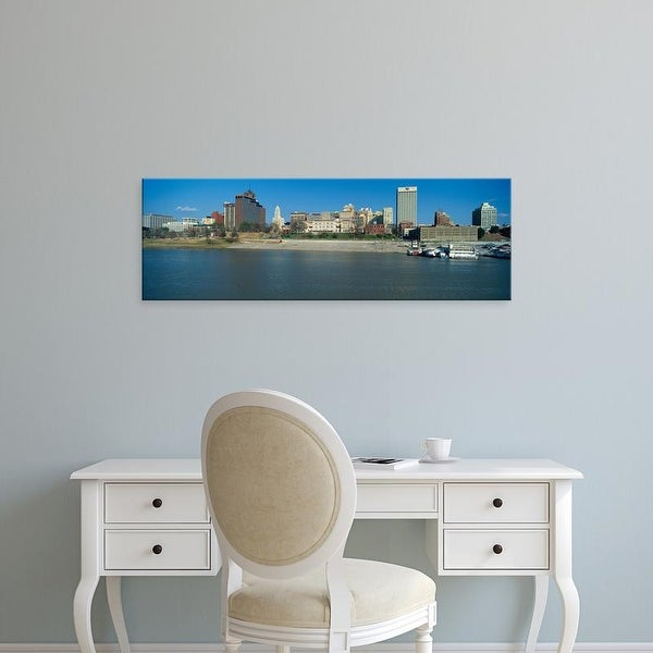 Easy Art Prints Panoramic Images's 'Panoramic view of Mississippi River with Memphis, TN skyline' Premium Canvas Art