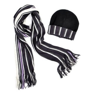 New Unisex 100% Acrylic Winter Set Scarf And Hat - One size