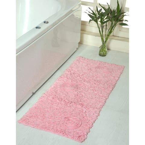 "Bell Flower Collection Cotton Bath Rug 21""x54"" Runner"