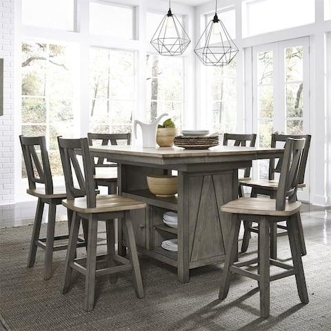 Lindsey Farm Grey/Sandstone 7-piece Gathering Table Set