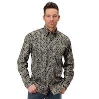 Roper Western Shirt Mens Paisley Print L/S Black