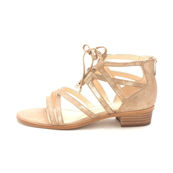 Isola Womens Gemini Leather Open Toe Casual Strappy Sandals