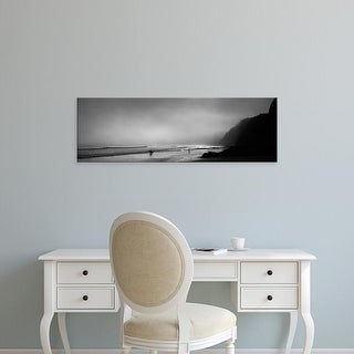 Easy Art Prints Panoramic Image 'Surfers on beach, Point Reyes National Seashore, Marin County, California' Canvas Art