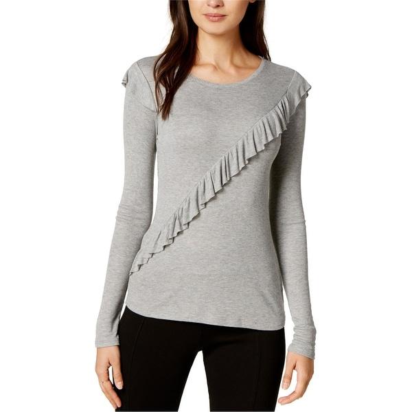 Maison Jules Womens Ruffle Basic T-Shirt. Opens flyout.