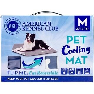 "American Kennel Club Bone Reversible Cooling Mat 20""X16""-Blue"