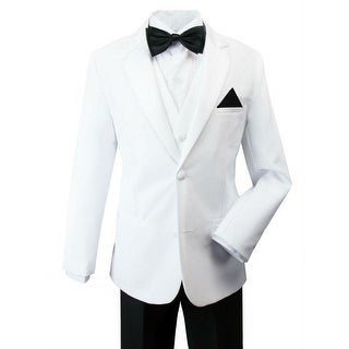 Rafael Boys Black White Pants Jacket James Bond Tuxedo Suit
