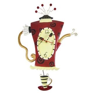Allen Designs `Steamin` Tea` Teapot Pendulum Wall Clock