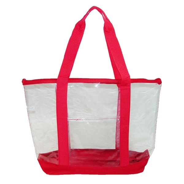 Liberty Bags Clear Zip Top Tote Bag with Double Handles - One size