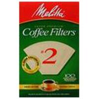 Melitta Coffee & Tea Filters #2 Cone Coffee Filters, Natural Brown 100 count