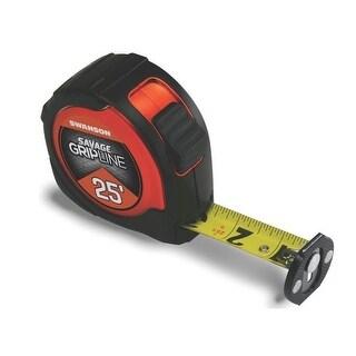 Savage SVGL25M1 Gripline Measure Tape, Magnetic Tip, 25'
