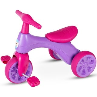 Costway 2 in 1 Toddler Tricycle Balance Bike Scooter Kids Riding Toys w/ Sound & Storage - Purple