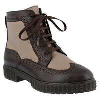 Azura Women's Manele Ankle Boot Brown Multi Tumbled Leather