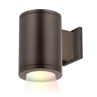 """WAC Lighting DS-WS05-FA-CC Tube Architectural ilumenight Single Light 7-1/8"""" Tall Integrated LED Outdoor Wall Sconce with Away"""