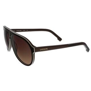 Lacoste L741/S 210 Brown Aviator sunglasses Sunglasses
