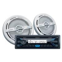 Sony DXS-M5511BT Marine Package with DSXM55BT Marine Digital Media Receiver & XSMP1611 Speakers