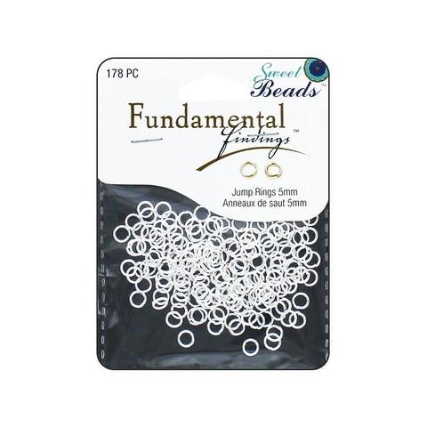 Sweet Beads Fund Find JRing Rnd 5x0.8mm 178pcSlvr