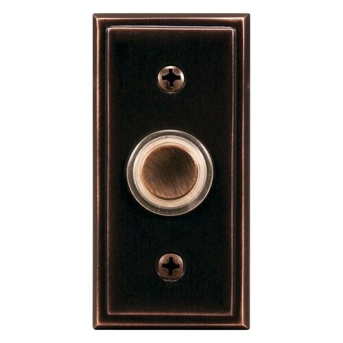 Heath Zenith SL-602-02 Wired Pushbutton Doorbell, Oil Rubbed Bronze