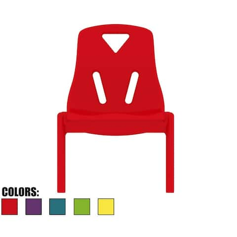 "2xhome Kids Size Plastic Side Childrens Chair 10"" Seat Height For Kids Room School No Arm Molded Stackable"