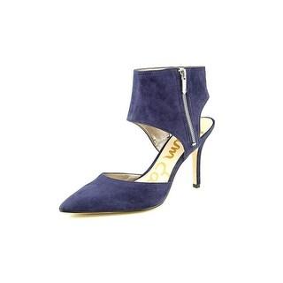 Sam Edelman Zaida Women Pointed Toe Suede Blue Heels