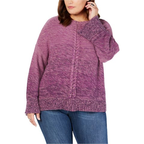 Style & Co. Womens Marl Braid Pullover Sweater