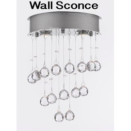 Modern Wall Sconce Lighting Crystal Balls 2 Light