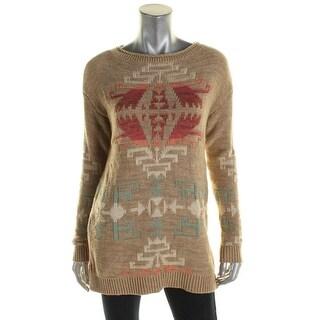 Lauren Ralph Lauren Womens Pullover Sweater Geometric Print Long Sleeves