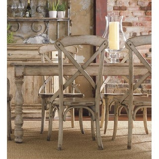 """Hooker Furniture 5004-75200  82"""" Long Hardwood Dining Table from the Wakefield Collection - Distressed Taupe White"""