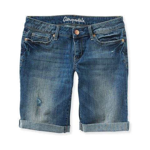 Aeropostale Womens Bermuda Casual Denim Shorts