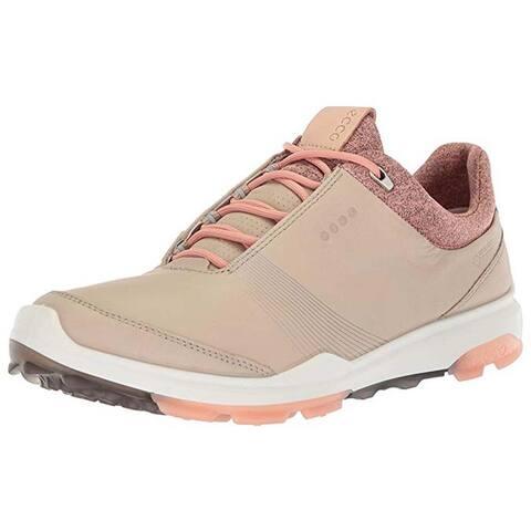 Ecco Womens Biom Hybrid 3 Oyster/Muted Clay Gore-Tex 42 EU 11-11.5 Golf Shoes